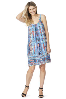 Rockmans Sleeveless Tribal Print Sundress