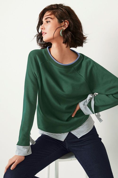 Next Mock Layer Sweater