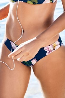 Next Navy Floral High Leg Bikini Briefs