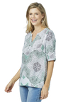 Rockmans Elbow Sleeve Delicate Print Shirt