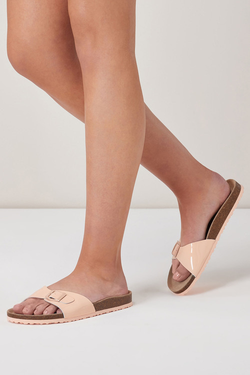 Next Leather Single Buckle Sandals