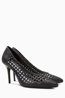 Next Weave Court Shoes