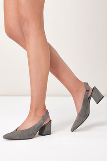 Next Suede Point Slingbacks