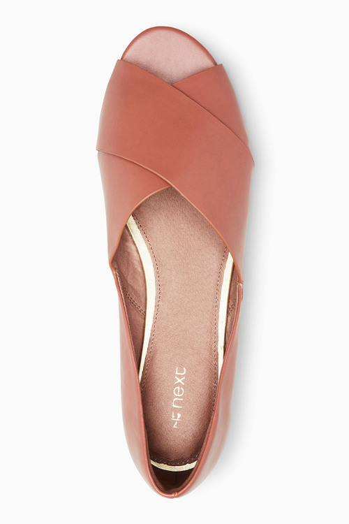 Next Cross Over Peep Toe Flats