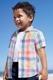 Next Check Short Sleeve Shirt (3mths-6yrs)