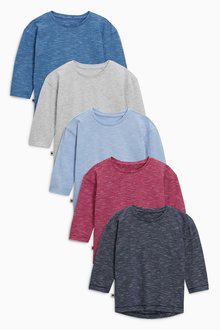 Next Wizzy Stripes Long Sleeve T-Shirts Five Pack (3mths-6yrs)