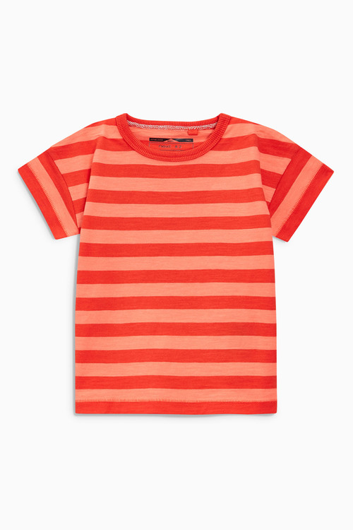 Next Dino Stripe Short Sleeve T-Shirts Four Pack (3mths-6yrs)