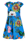 Next Blue Floral Prom Dress (3-16yrs)