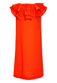 Next Orange Ruffle Dress (3-16yrs)