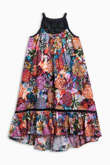 Next Crochet Printed Maxi Dress (3-16yrs)