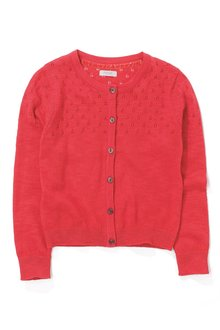 Next Red Pointelle Cardigan (3-16yrs)