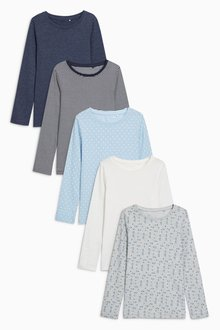 Next Long Sleeve Tops Five Pack (3-16yrs)