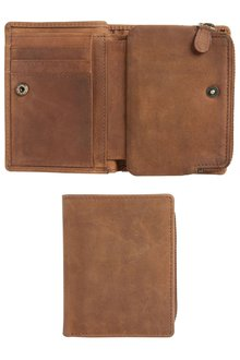 Next Leather Bifold Coin Pocket Wallet
