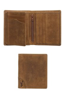 Next Leather Extra Capacity Corner Stag Detail Wallet
