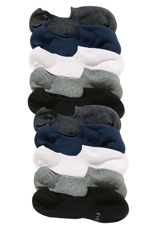 Next Invisible Trainer Socks Ten Pack