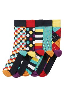 Next Geometric Designs Socks Five Pack