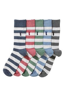 Next Block Stripe Socks Five Pack