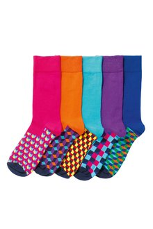 Next Pattern Socks Five Pack