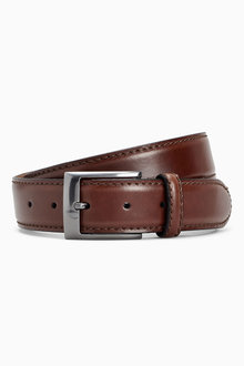 Next Signature Italian Leather Stitched Edge Belt - 202108