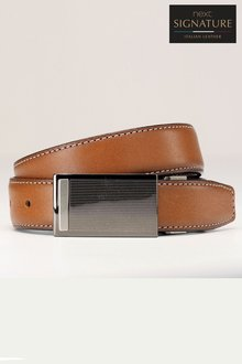 Next Reversible Leather Plaque Belt