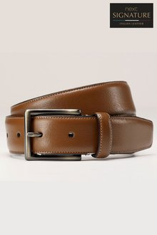 Next Tan Fine Stitched Leather Belt
