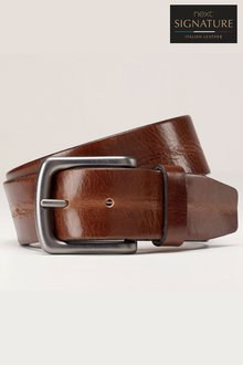 Next Creased Effect Leather Belt - 202122