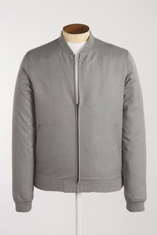 Next Grey Skinny Fit Bomber Jacket