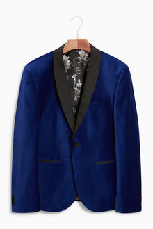 Next Velvet Jacket - Skinny Fit