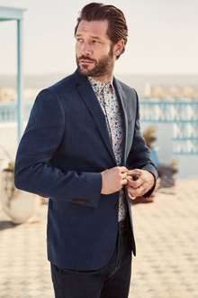 Next Linen Jacket - Slim Fit