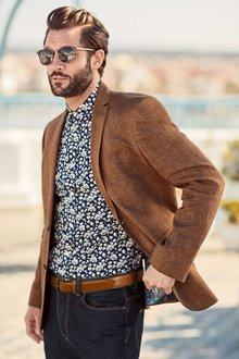 Next Linen Jacket - Tailored Fit
