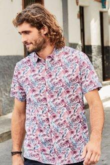 Next Short Sleeve Parrot Print Shirt
