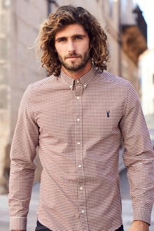 Next Long Sleeve Gingham Shirt