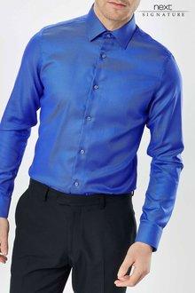 Next Signature Textured Slim Fit Shirt