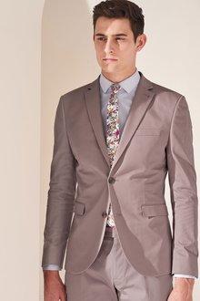 Next Lilac Slim Fit Shirt With Floral Tie Set