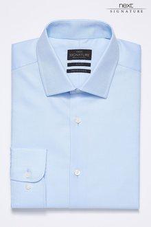 Next Signature Premium Fabric Textured Slim Fit Shirt