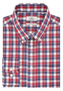 Next Red Check Regular Fit Shirt