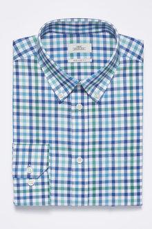 Next Blue Check Regular Fit Shirt