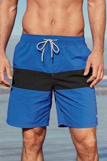 Next Black Colourblock Swim Shorts