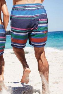 Next Block Stripe Swim Shorts