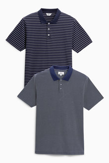 Next Pattern And Stripe Polos Two Pack