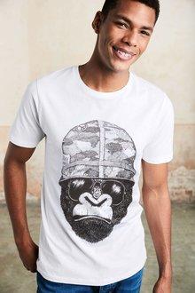 Next Gorilla Print T-Shirt