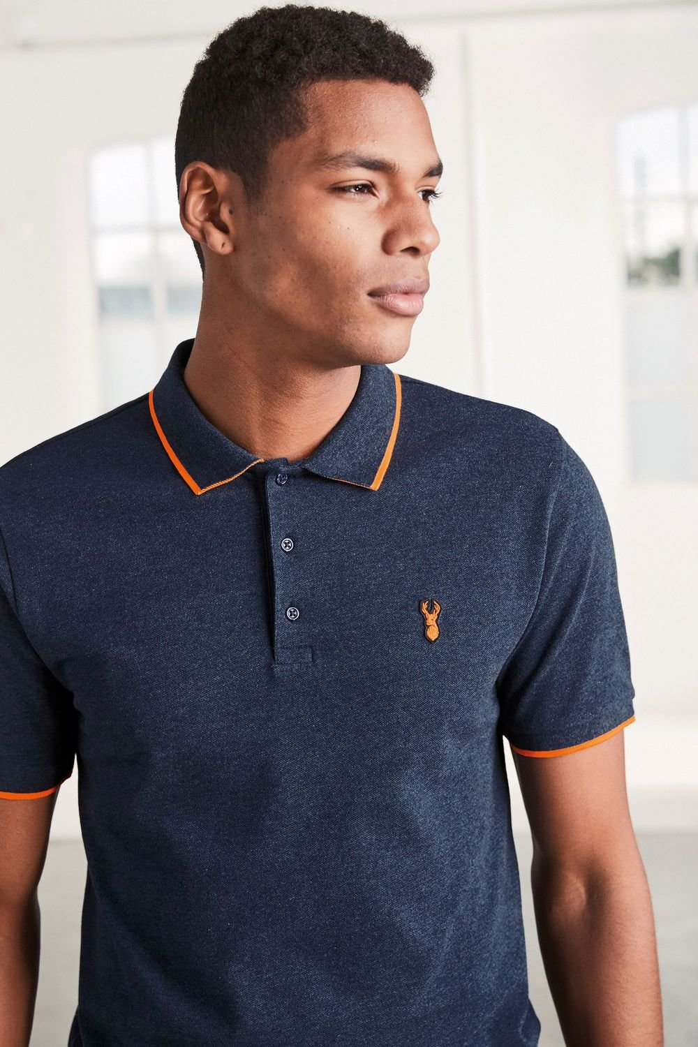30b182ce75c Next Neon Tipped Badge Polo Online