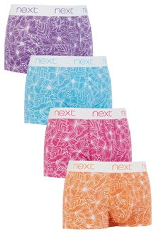 Next Bright White Floral Hipsters Four Pack