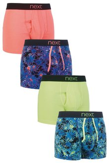 Next Fluro Leaf A-Fronts Four Pack