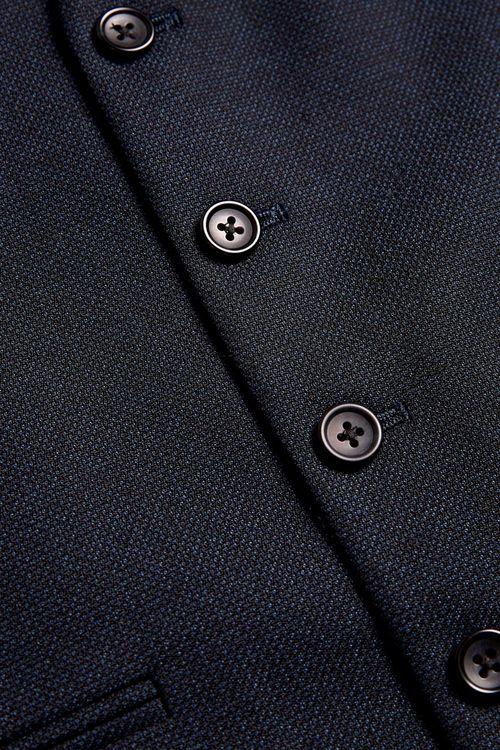 Next Textured Birdseye Suit: Jacket - Slim Fit