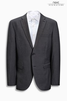 Next Signature Italian Wool Suit: Jacket - Tailored Fit