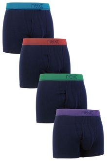 Next Geometric Waistband A-Fronts Four Pack