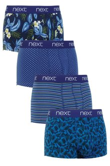 Next Navy/Khaki Floral Hipsters Four Pack