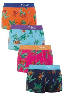 Next Spaced Floral Hipsters Four Pack