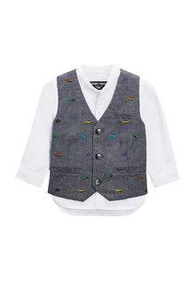 Next Embroidered Waistcoat Set (3mths-6yrs)
